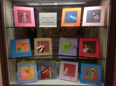 Art quilt squares using math concepts