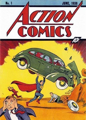Action Comics Number 1 Cover, Superman's First Appearance