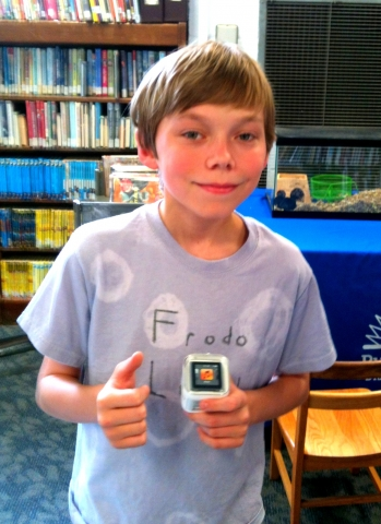 Photo Alex M. Winner of the Cleveland Park Library Teen Summer Reading Grand Prize Drawing