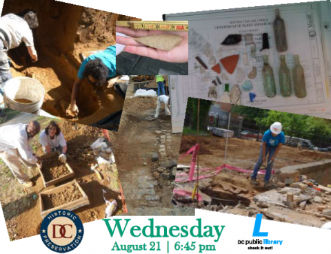 Compilation of photographs of excavations in the District.