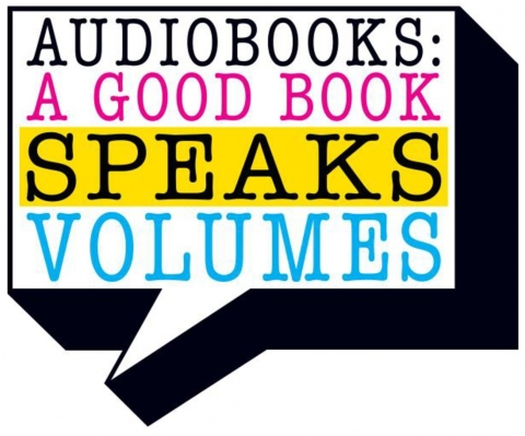 "Graphic that says ""a good book speaks volumes"""