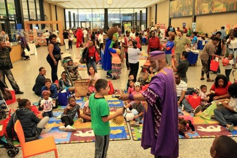 Story Teller Baba-C at Library event