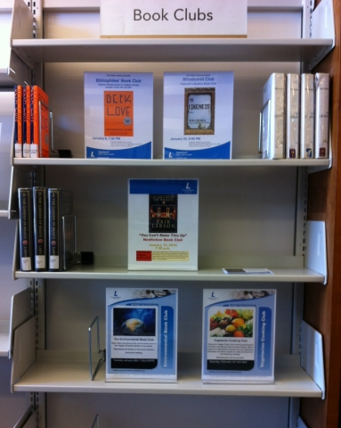 Photo of the Petworth book clubs holds shelf
