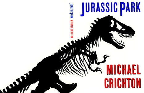 Jurassic Park book cover.