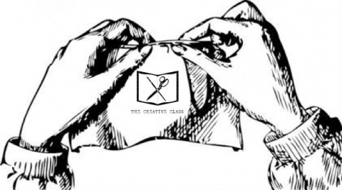 The Creative Class logo with sewing hands