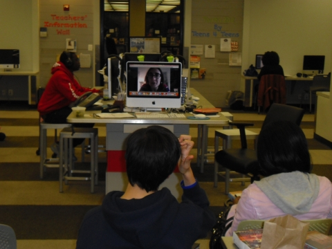 Teens chat with YA author Cecil Castellucci via Skype