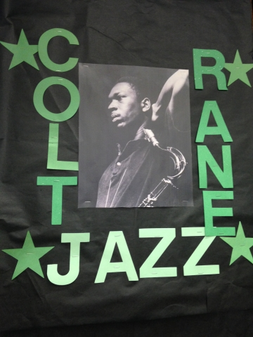 Coltrane Jazz Appreciation Month Display Room 207