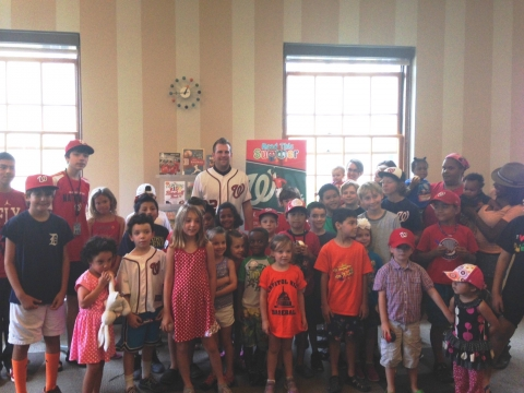 Washington Nationals pitcher Drew Storen at the Mount Pleasant Library