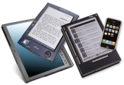 image of multiple e-readers