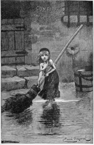 "Emile Bayard's ""Cosette"" from original edition, courtesy Wikimedia Commons"