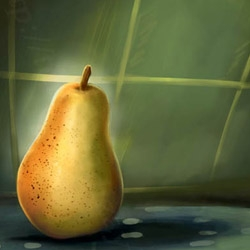 Digitally Painting of a pear