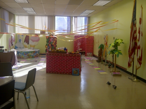Candyland in West End's large meeting room