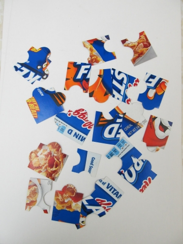 frosted flakes cereal box cut up