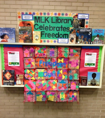 MLK Library Freedom Quilt Display