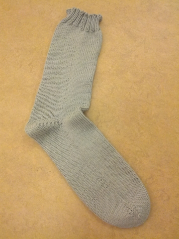 hand knitted sock