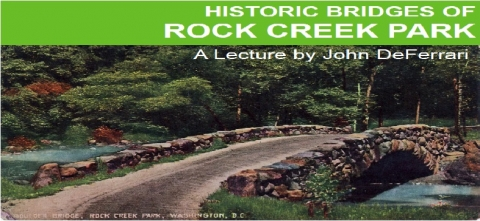 Image of a postcard from the Washingtoniana Division of a bridge in Rock Creek Park
