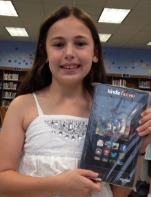 Image of Sarah L., our Kindle Fire winner!