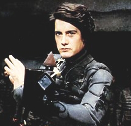"Kyle MacLachlan playing Paul Muad'Dib in ""Dune"""