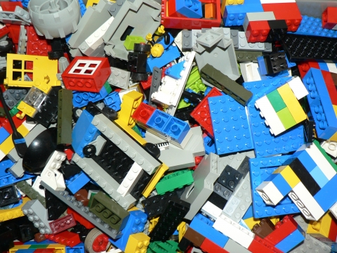 Picture of assorted LEGOs.
