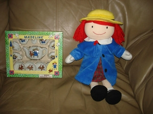 Madeline doll with tea set