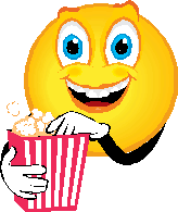 Watching movies with popcorn
