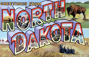 Greetings from North Dakota Postcard