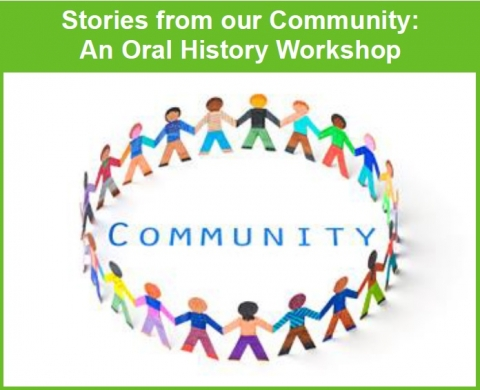 Image for Preserving Community Stories, and Oral History workshop which is part of the Know Your Neigbhborhood program series.