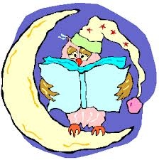 Owl in pajamas reading
