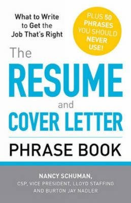 Resume and Cover Letter Phrase Book cover