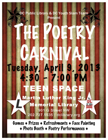 The Poetry Carnival flyer