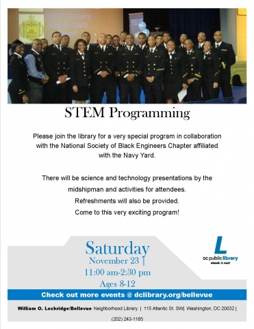 Flyer - US Naval Academy Comes to Bellevue Library