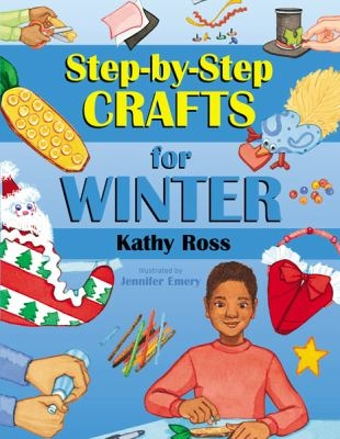 Step by step crafts for winter book cover