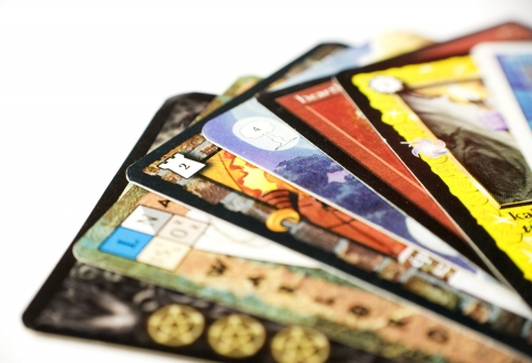 Image of assorted collectible cards.