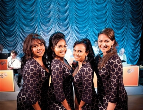 The 4 Sapphires posing for a promotional picture.
