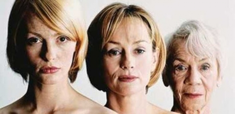 Image of three generations of aging