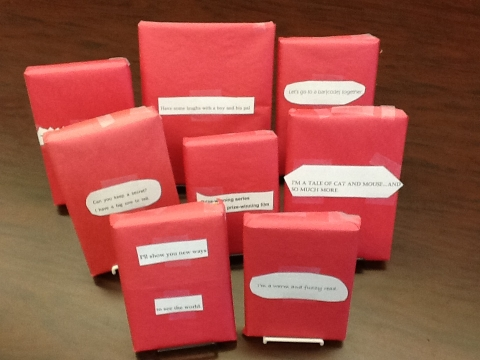 blind date with a book wrapped books