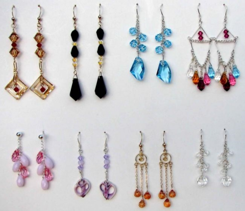 Bead earrings for Beading workshop