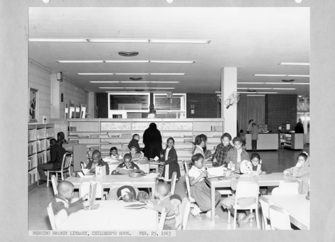 The children's section at Benning, 1962