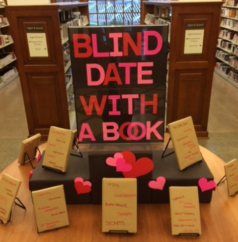 photo of Petworth Library's blind date with a book display