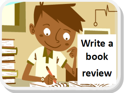 """Write a book review"" image"