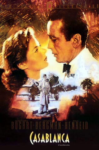 Cover image of the DVD for the 1942 film Casablanca