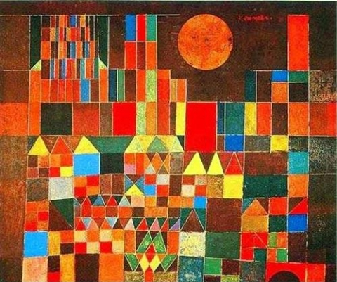 Castle and the Sun by Paul Klee