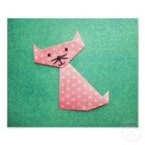 Picture of an origami cat