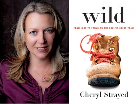Head shot of Cheryl Strayed and picture of book cover