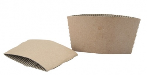 Photo of carboard coffee sleeves