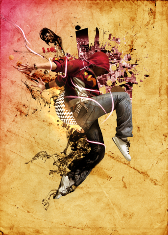 digital collage tutorial with photoshop district of