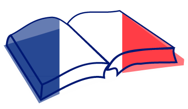 Book with French flag over it