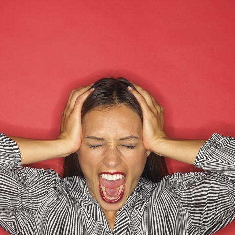 image of frustrated woman