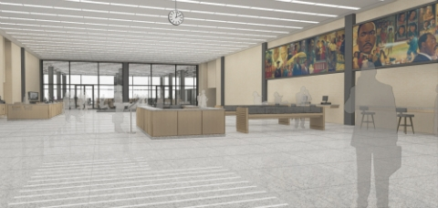 Drawing of the Planned Great Hall Renovations