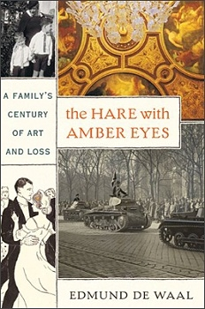 """Photo of the book jacket of """"The Hare with Amber Eyes"""""""
